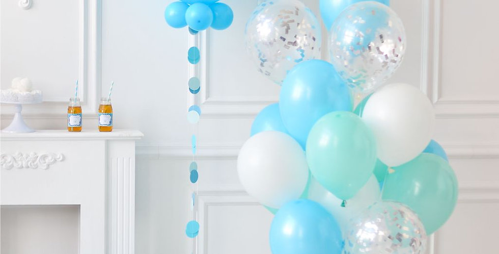 Blue and Mint Balloon Bouquet