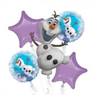Frozen Olaf Balloon Bouquet - Pkt of 5