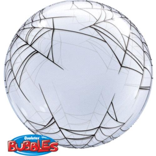 Halloween Spider Web Clear Bubble Balloon