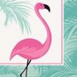 Flamingo Beverage Napkins - Pkt 16