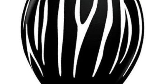 Zebra Stripe Print Helium Balloon 28cm