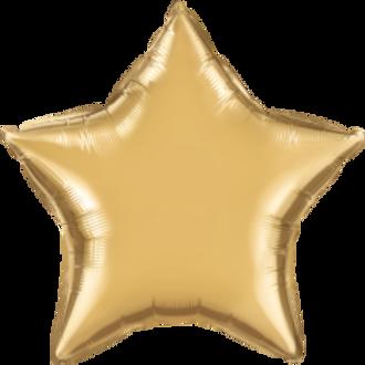 Chrome Gold 20inch Star Foil Balloon