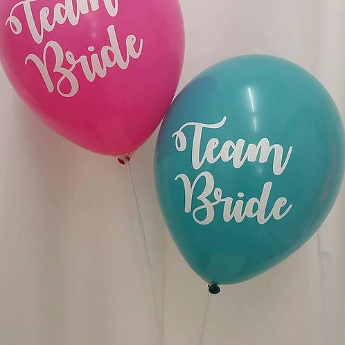 Team Bride / Hens Party Balloons 30cm - Pkt of 4
