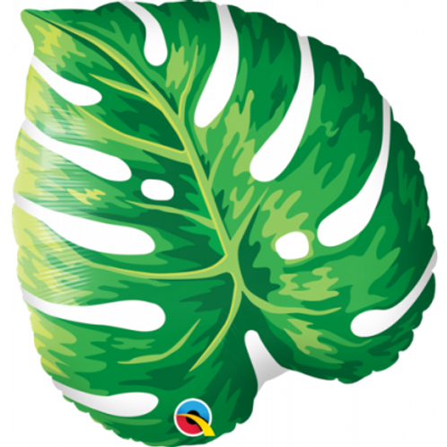 Tropical Philodendron Leaf Foil Balloon