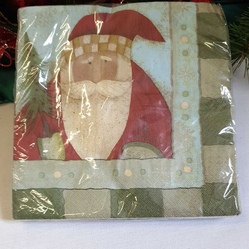 St Nick Tidings Lunch Napkin Pkt 18