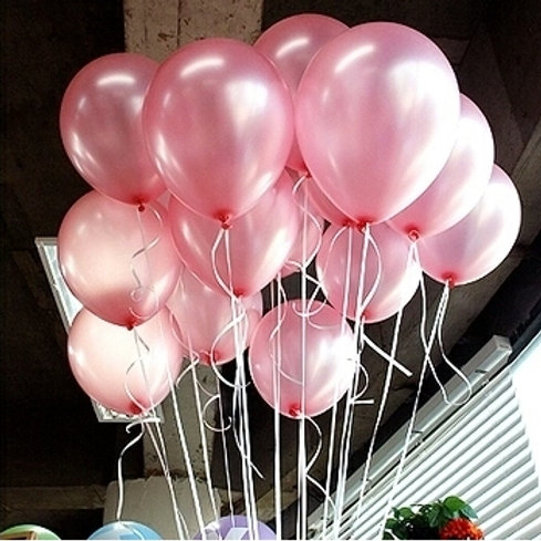 Pearl Pink Balloons 30cm Pkt of 12