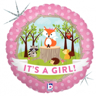 Its a Girl Woodland Foil - 18""