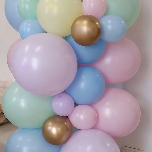 Pastel Balloon Organic Garland DIY Kit LARGE