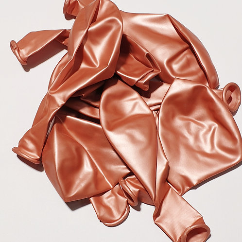 Metallic Rose Gold Balloon - 30cm - each