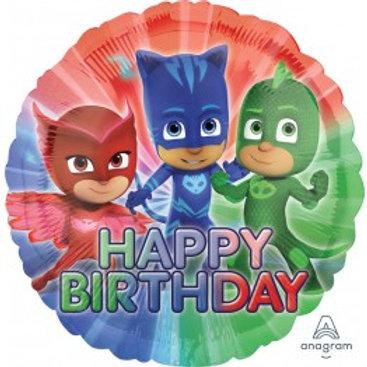 "PJ Mask Happy Birthday Foil - Size 18"""