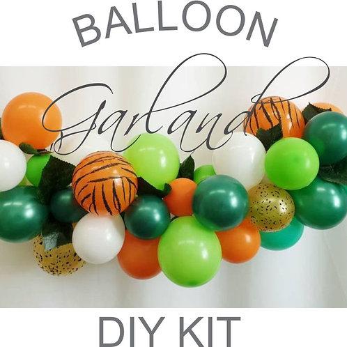 Mini Jungle Balloon Garland DIY kit