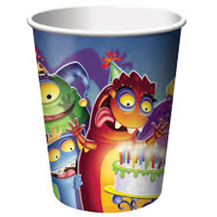 Monster Mania Paper Cup 266ml - Pkt 8