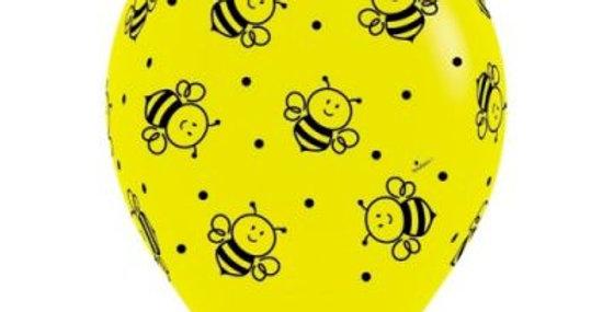 Bee Print Helium Balloon 30cm