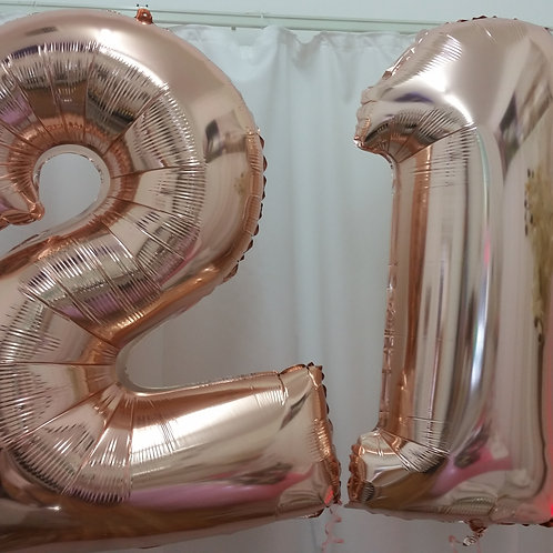 21st Birthday Supershape Number Foil Balloons