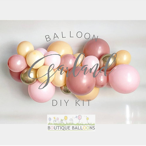 Balloon Garland DIY Kit - Dusty Pink, Peach and Gold