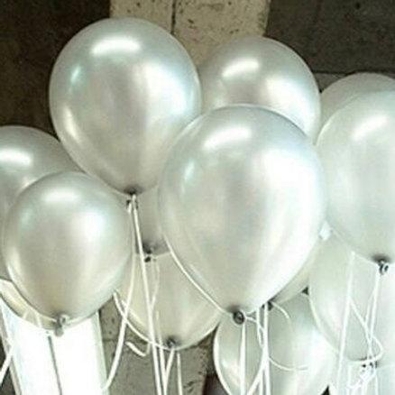 Metallic Silver Balloons 30cm - Pkt of 12