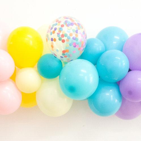 Mini DIY Rainbow Balloon Garland