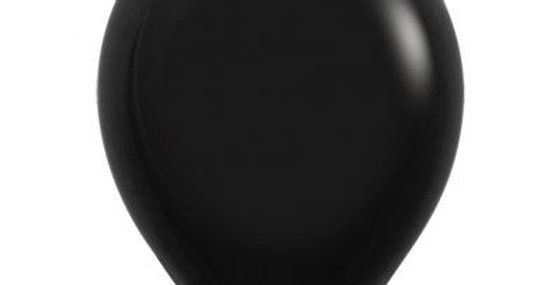 Standard Black Helium Balloon 30cm each