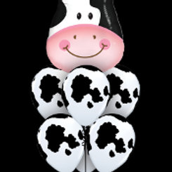 Cow balloon bouquet mix - Pkt of 7 balloons