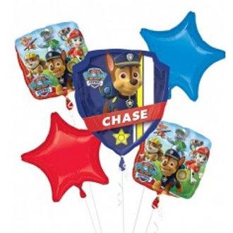 Paw Patrol Foil Balloon Bouquet  - Pkt of 5
