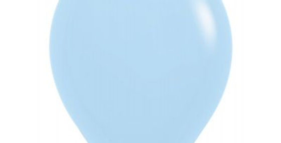 Pastel Matte Blue Helium Balloon 30cm each