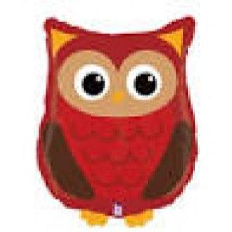 "Woodland Owl Foil Balloon - 36"""