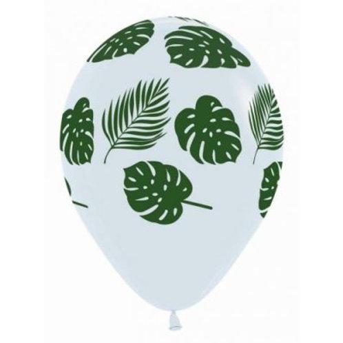 Leaf Printed Balloons Pkt 5