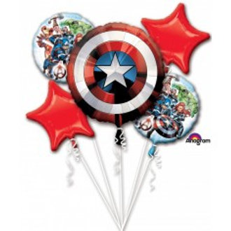 Avengers Shield Balloon Bouquet - Pkt of 5