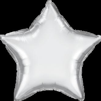 Chrome Silver 20inch Star Foil Balloon
