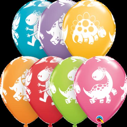Dinosaur Cute Printed Balloons PKT 5