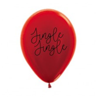 Jingle Jingle Christmas Balloon - 30cm - Packet of 3