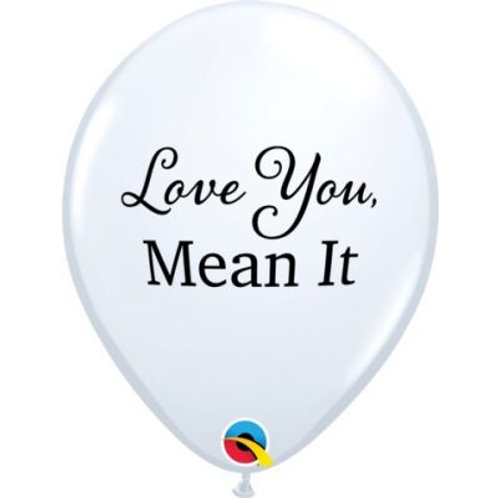 Balloon White Love you Mean it