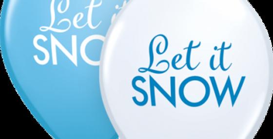 Let it Snow Print Helium Balloon 28cm