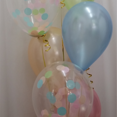 Pastel and Confetti Pastel Mix -Pkt of 12 Blns