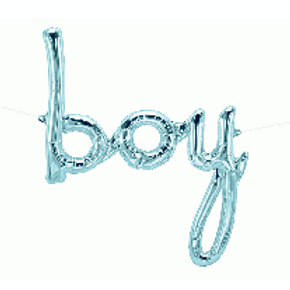 "Boy Pale Blue 46"" airfilling only foil balloon"