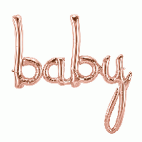 """Baby Rose Gold 46"""" airfilling only Foil Balloon"""