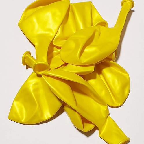 Metallic Yellow Balloon - 30cm - each