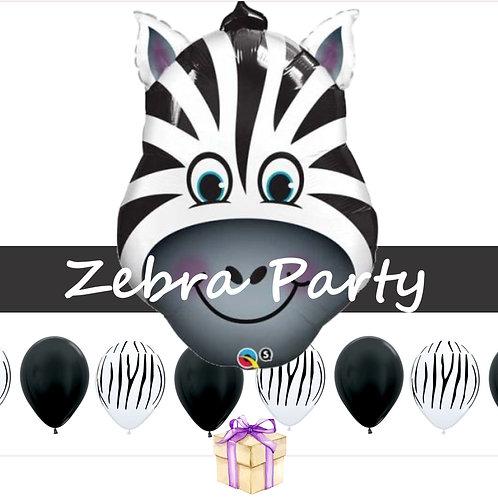 Zebra Balloon Kit