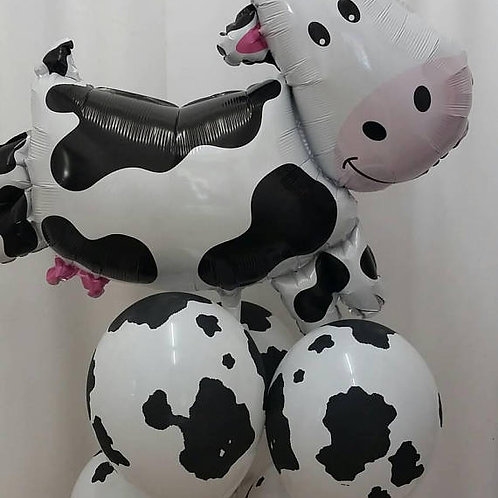 Cow Supershape Foil Balloon with Cow Print Balloons