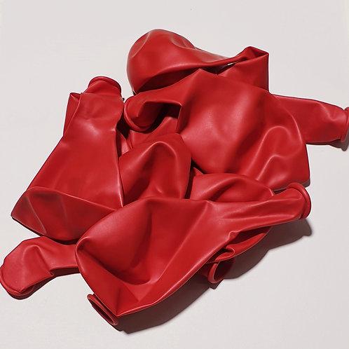 Metallic Red Balloon - 30cm - each