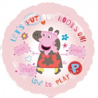 "Peppa Pig Time to Play Foil 18"" each"