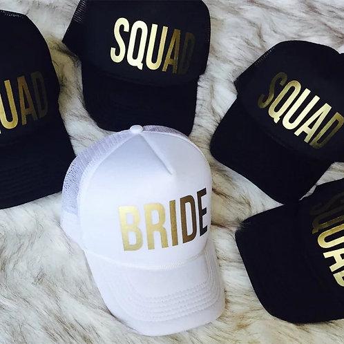 Bride and Squad Caps - 1 Cap
