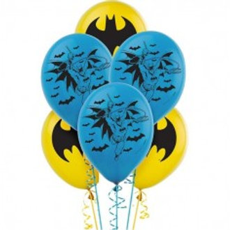 "Batman Printed Balloons - 11"" Pkt of 6"