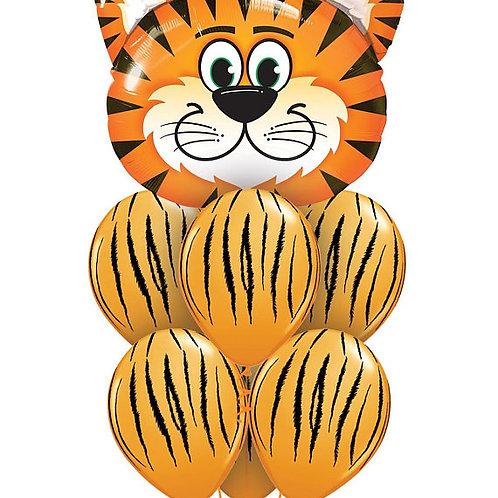 Tiger Foil & TigerStripe Balloons - Pkt of 7