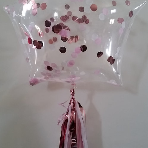 Star Shape 56cm Confetti Balloon Kit -choose your confetti colours