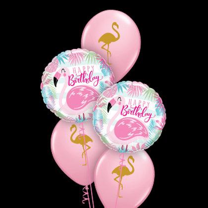 Flamingo Birthday Bouquet - Pkt of 5 balloons