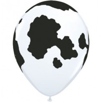 Cow Print / Friesian Printed Balloon - Pkt of 4