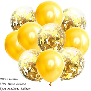Confetti Balloon Gold Bouquet