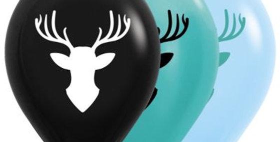Deer Print Helium Balloon 28cm