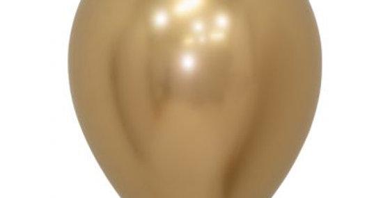 Chrome Gold Helium Balloon 28cm each